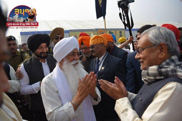 #JustinPics #PrakashPurab #GuruGobindSinghJi  Nitish Kumar, Chief Minister of Bihar with Bhai Sahib Mohinder Singh ji UK, attended the opening ceremony of the Prakash Gurpurab Samagam at Bypass Tent City.  Share & Spread!