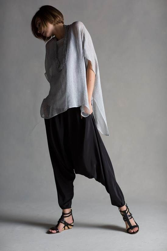 #eileenfisher bluesign certified silk harem pants (i.e. made without hazardous chemicals + less water)