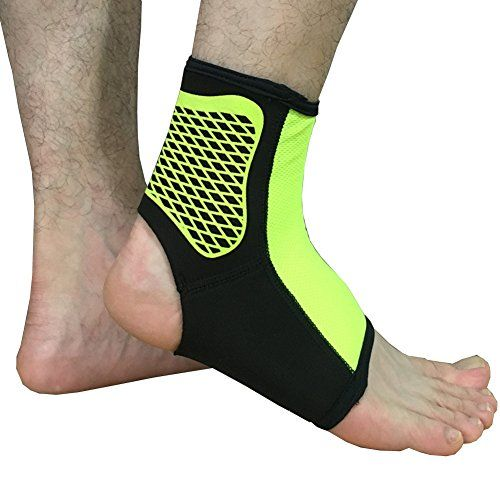Ankle Compression Sleeve Arch Support for Plantar Fasciitis, Swelling, Pain Relif, Recovery, Athletics, Basketball, Volleyball, Running, Football -Single