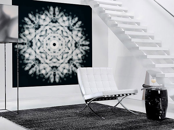 Black and White - Modern Light Flake