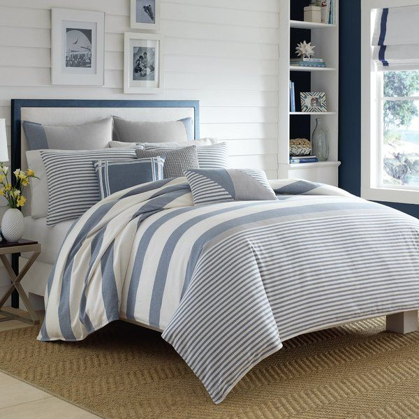 Fairwater Reversible Comforter Set Bedspread, Herringbone and Towels - Used Bedroom Sets