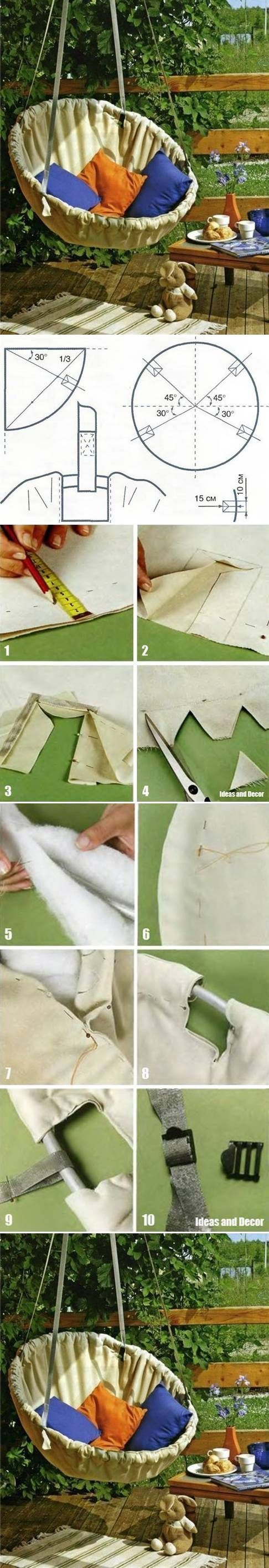 How to Make Hammock Chair step by step DIY tutorial instructions #ChairDIY