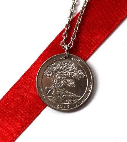 Quarter Pendant U.S. Quarter Dollar Coin Necklace by Hendywood