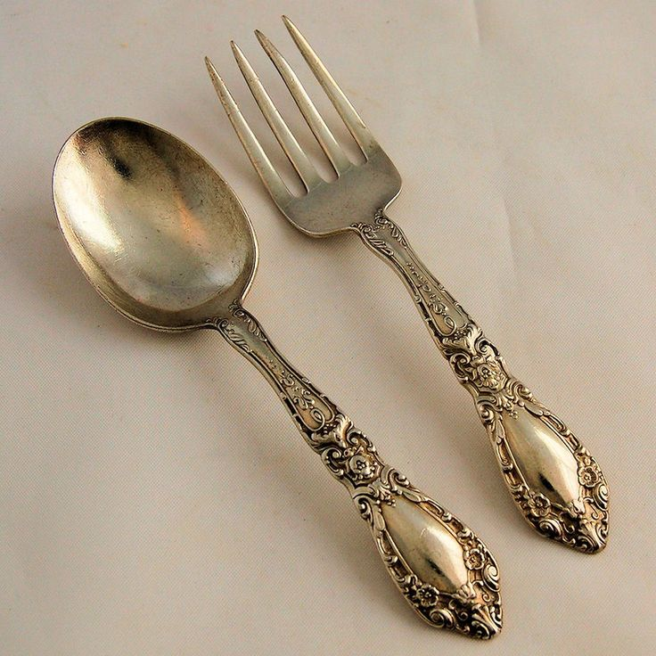 Alvin Prince Eugene Sterling Silver Baby Fork And Spoon