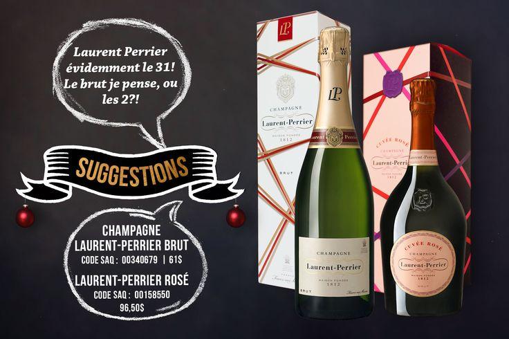 Laurent-Perrier Brut Code SAQ : 00340679 | 61$  Laurent-Perrier Rosé Code SAQ : 00158550 | 96,50$