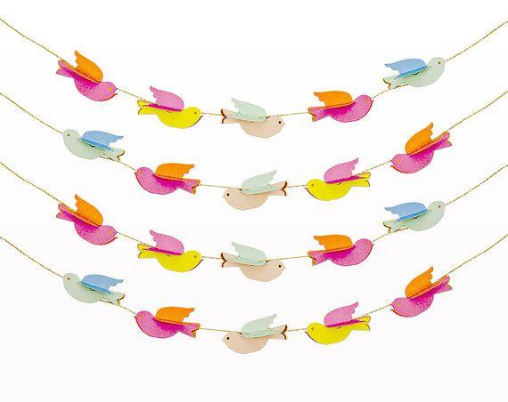 Pretty Birdies Mini Garland by Meri Meri / Modern by thepaperkit