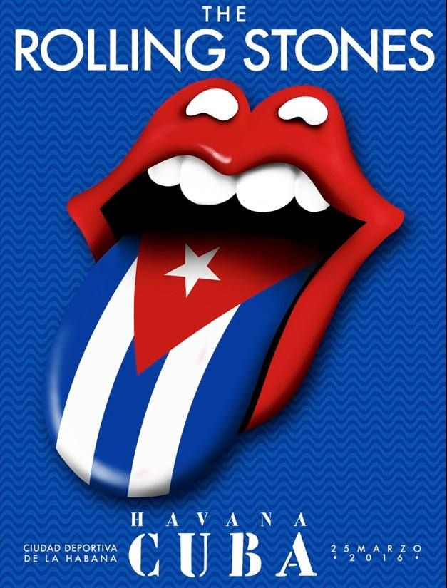 The Rolling Stones releases poster for its 1st tour date in Cuba, over 500,00 are expected to attend the free concert today in Havana!