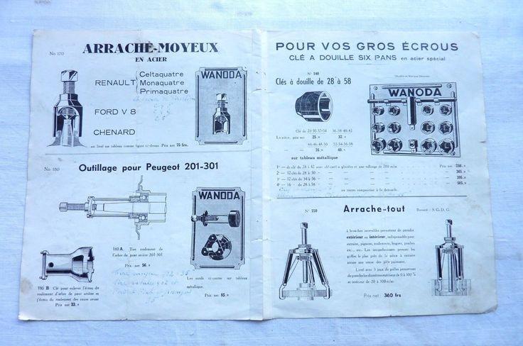 WANODA-Clé à douille,Arrache-tout,Extracteur de Roulements,Outillage   Réf 04 | Collections, Objets publicitaires, Publicités papier | eBay!