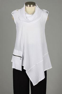 Y&S Fashion Designers - Sleeveless Zipper Pocket Top $134