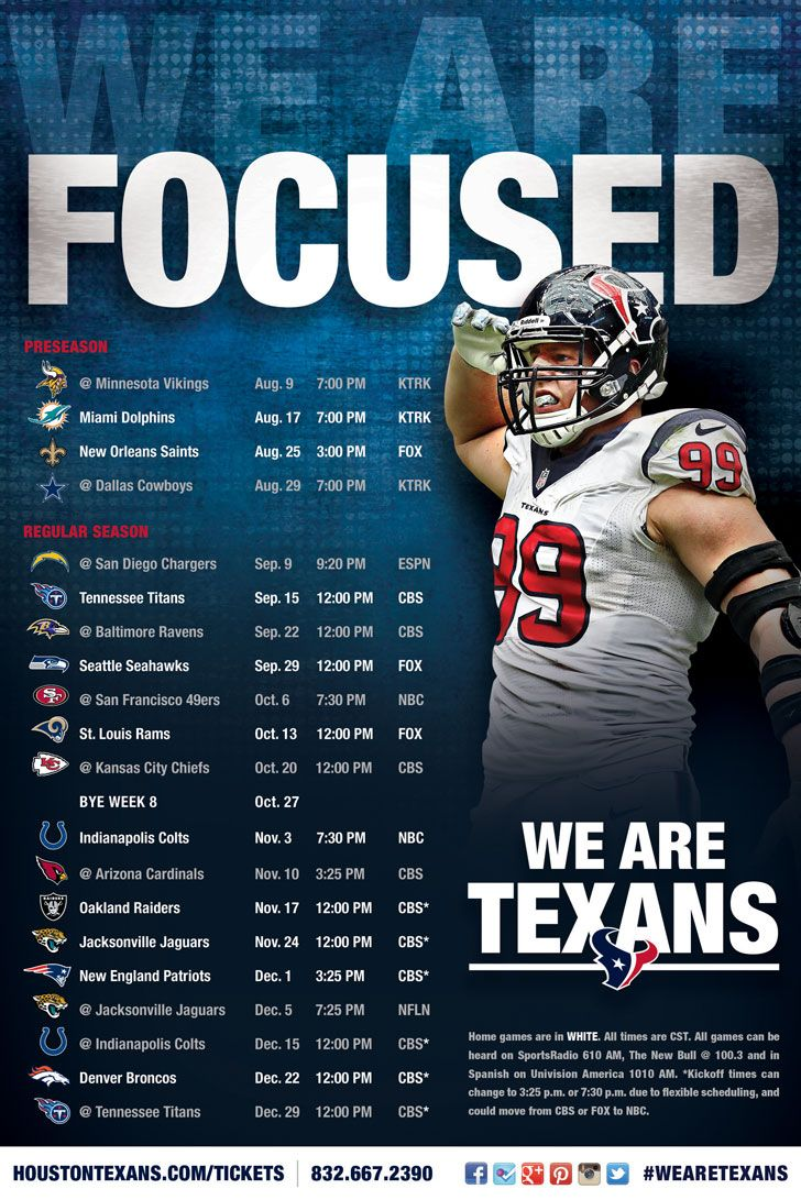 the+houston+texans+schedule | Houston Texans 2013 Regular Season Schedule - HoustonTexans.com
