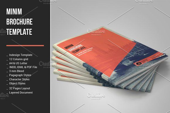 Corporate Brochure by MrTemplater on @creativemarket free brochure - free brochure design templates word