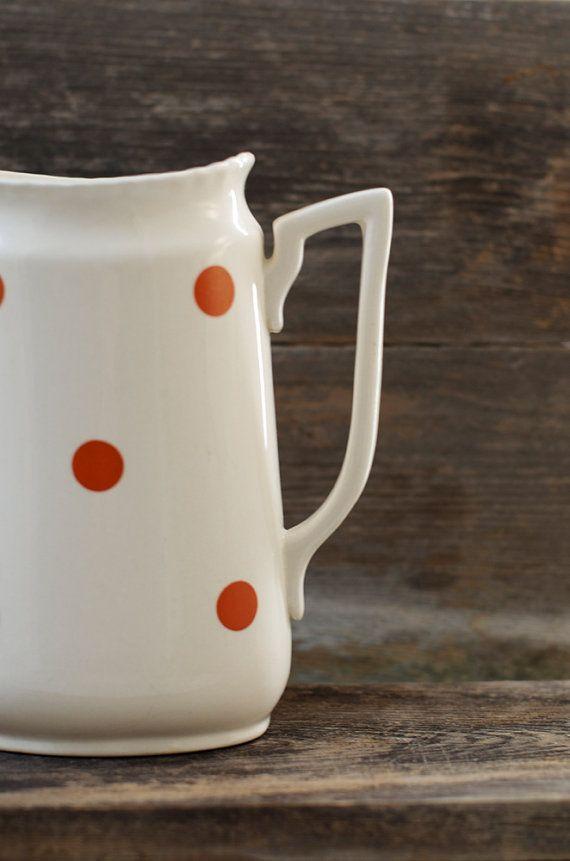 Vintage Norsk Flint Egersund Keramik Wasserkrug von HouseofSeance