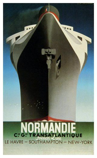 'Normandie', 1935 (French Line Poster)