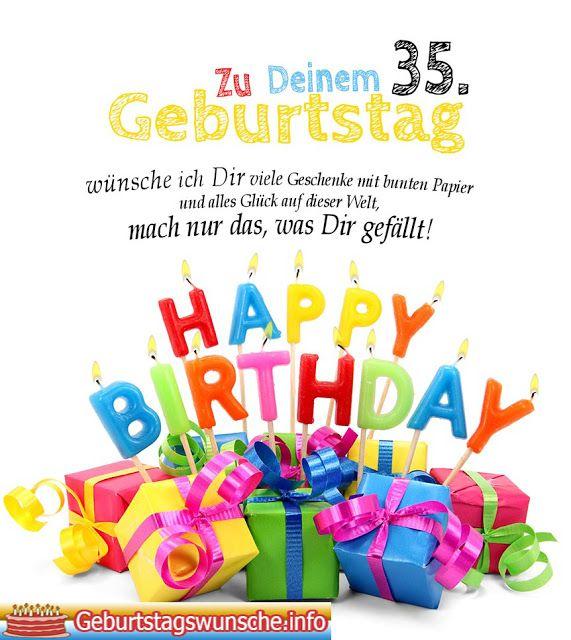 Geburtstagsspruche 35 Geburtstag Geburtstagskarten Zum