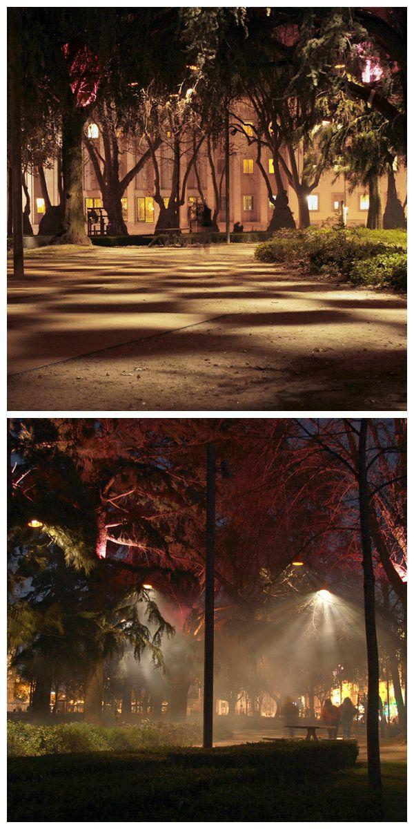 Светодиодная инсталляция «Kaleidotree» использует серию LED лампочек изготовленных на заказ, расположенных на деревьях содержащих набор зеркал, которые излучают свет через эффект калейдоскопа. Светодиодные огни запрограммированы на отображение различных световых последовательностей, таким образом, давая жизнь и динамизм саду, выражая дыхание деревьев через динамический свет. #светодиоднаяподсветка  #светодиодноеосвещение #уличноеосвещение #светодиоднаяинсталляция #уличныесветильники