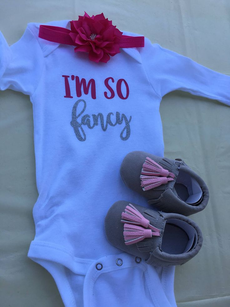 A personal favorite from my Etsy shop https://www.etsy.com/listing/509912790/3-piece-set-im-so-fancy-baby-girl