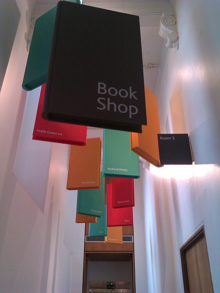 Bookshop signs at the British Museum.