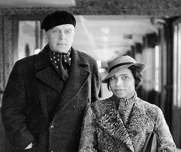 "Marian Anderson and her accompanist Kosti Vehanen (1887-1957), faculty member at Sibelius Institute, Helsinki, Finland, and a colleague of composer Jean Sibelius. Photo was taken aboard the ""Ile de France"" in 1935"