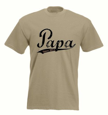 Papa - Fathers Day Gift-  Vintage Distressed Old School Font - Mens T- Shirt - You Pick Year - Custom Papa Shirt on Etsy, $20.00