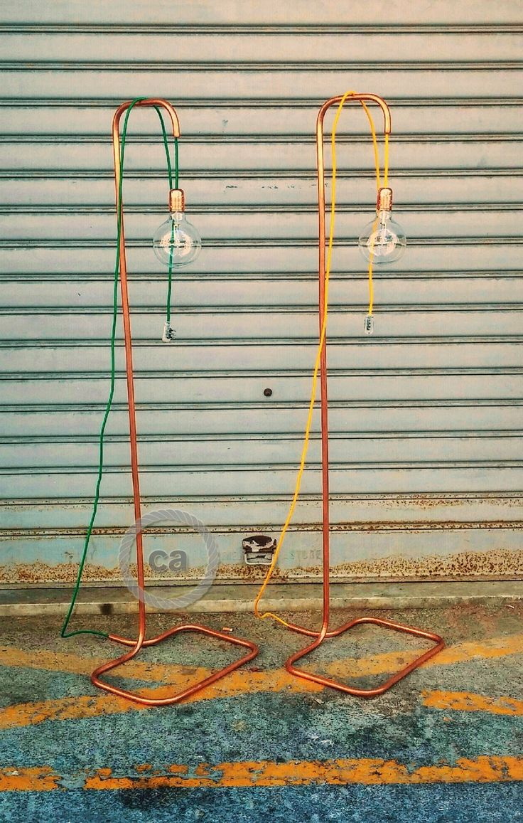 Lavinia has made these original lamps. The structure is built with copper pipe to which our coloured wires have been threaded through. The design is very simple but...