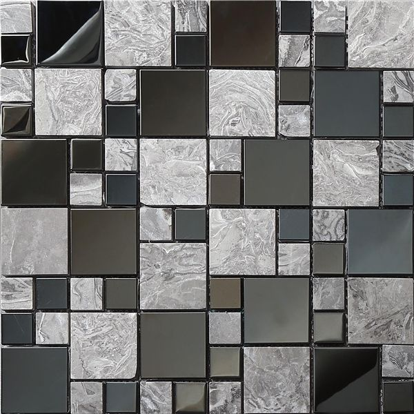 24.09$  Buy now - http://alinyu.shopchina.info/1/go.php?t=32359104906 - Free shipping!Metal marble blends mosaic tile wallpaper,Kitchen/TV Shower Fireplace Background wall tile,Home wall decor,SA07381  #buymethat