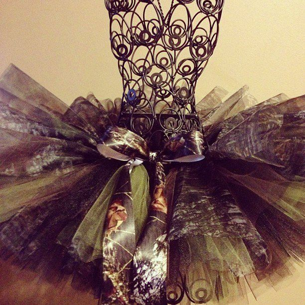for flower girl, with a pink or white little top. Mossy Oak Camo Tutu. $25.00, via Etsy.