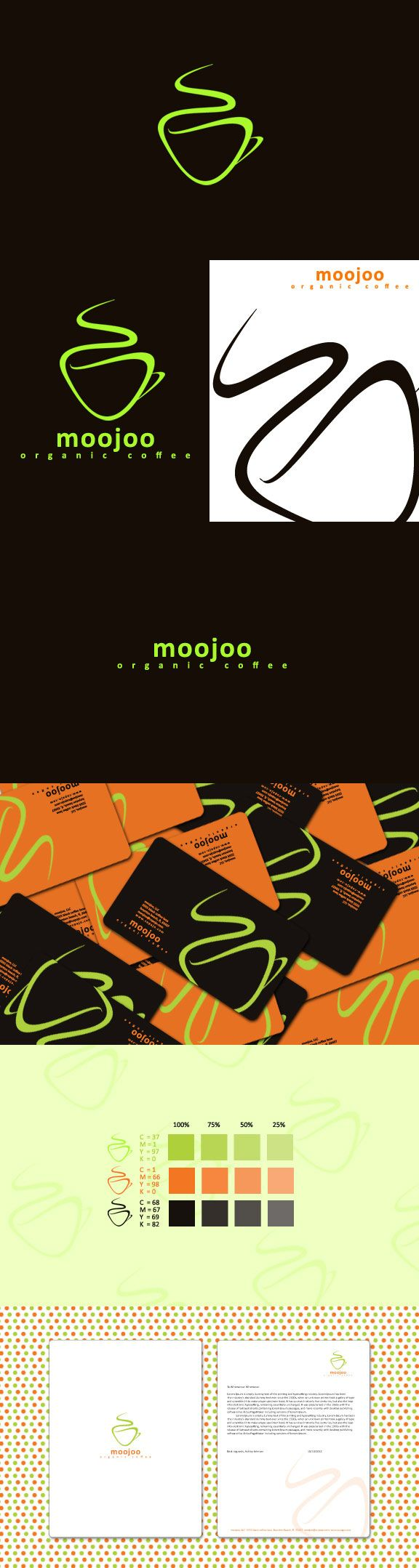 moojoo organic coffee http://www.behance.net/gallery/Moojoo-Organic-Coffee-Brand-Identity/2705185