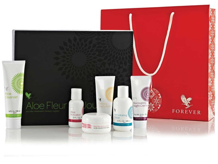 """Fleur de Jouvance Skin care regime. Aloe Cleanser, Rehydrating Toner, Firming Day Lotion, Recovering Night Creme, Mask Powder, Aloe Activator, Mixing spoon, Applicator brush and mixing bowl"" Click to order: $91.00 - FREE Gift Bag.  http://honeybee.myforever.biz"