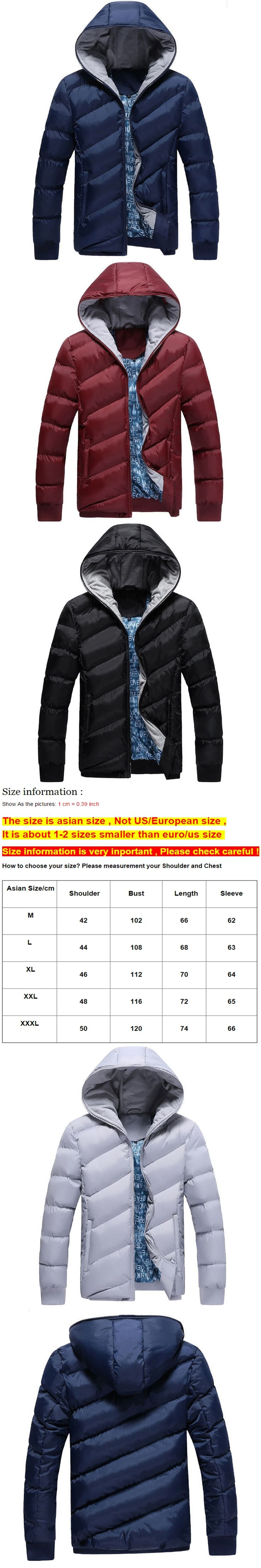 Winter Jacket Men Hooded Fashion Thick Warm Coat Mens Windbreaker Outwear Parkas jaqueta masculina male casaco parka Clothing