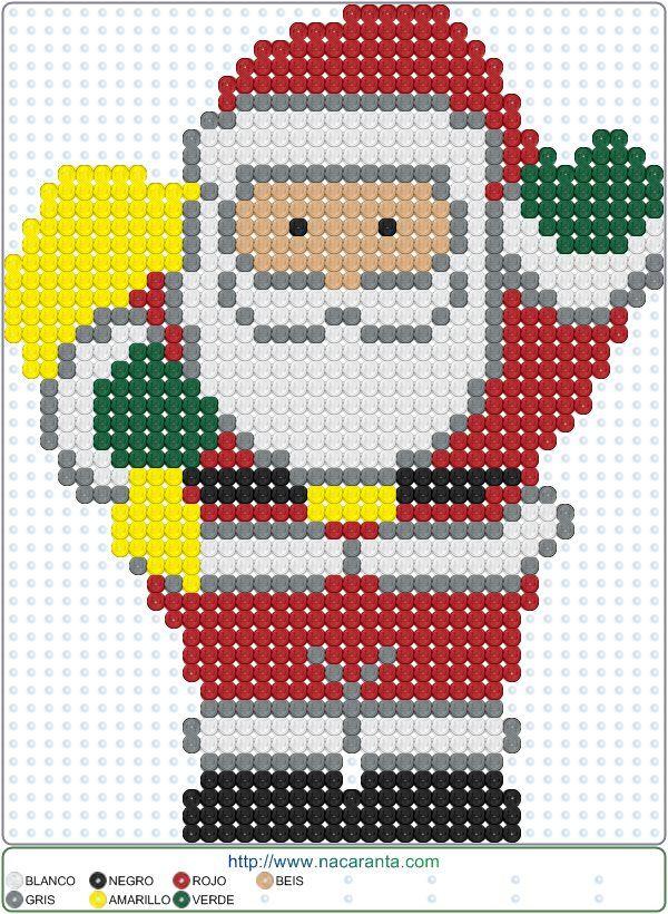 Santa Christmas Perler Bead Pattern