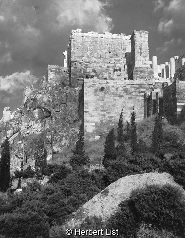 Herbert List Αθήνα, η δυτική πλευρά της Ακρόπολης, 1937