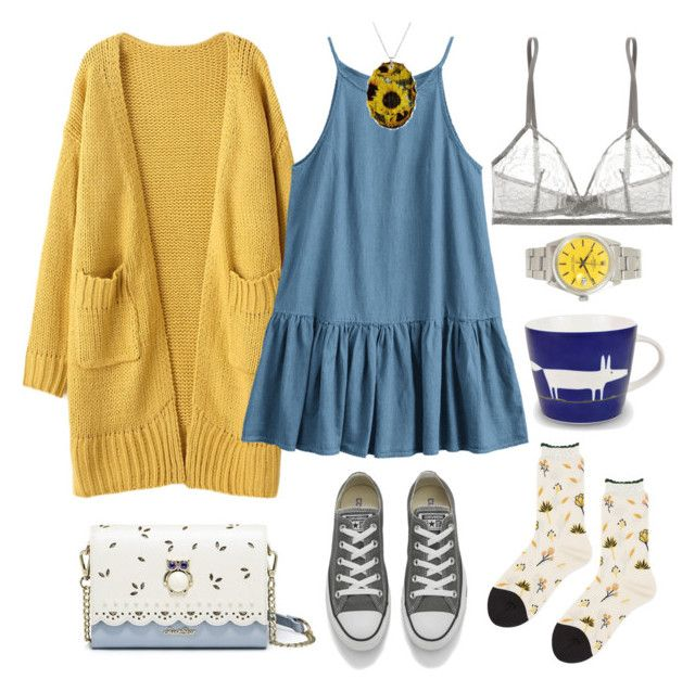 """""""Natalie"""" by elshakalaka on Polyvore featuring Hansel from Basel, Eres, Converse and Rolex"""