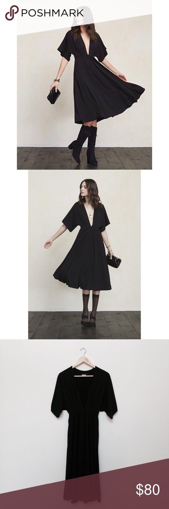 Reformation andy dress in black in my posh picks pinterest