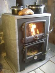 My next Vermont Wood Stove will be made of soapstone... and bake a pizza while it heats the house.