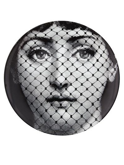 Fornasetti Plate, I would love to have a collection of these on a wall in my house