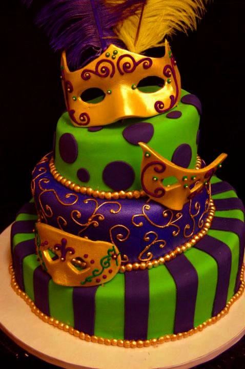 costumes ~ masquerade mardi gras cake L: