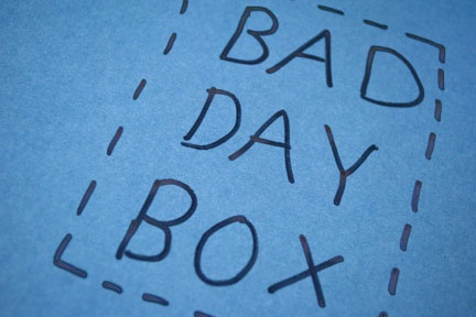 Bad Day Box - Filled with items that will cheer up the recipient on a bad day