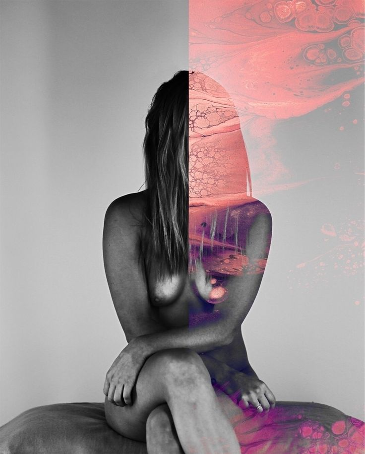 Jekyll & Hyde & Seek. 2017.  #nude #shoot #hair #model #girl #blackandwhite #photography #paint #ink #spill #peekaboo