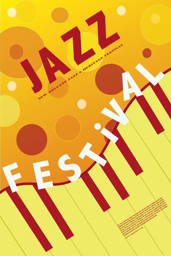 Typography Jazz Poster by Sofia Mirza, via Behance