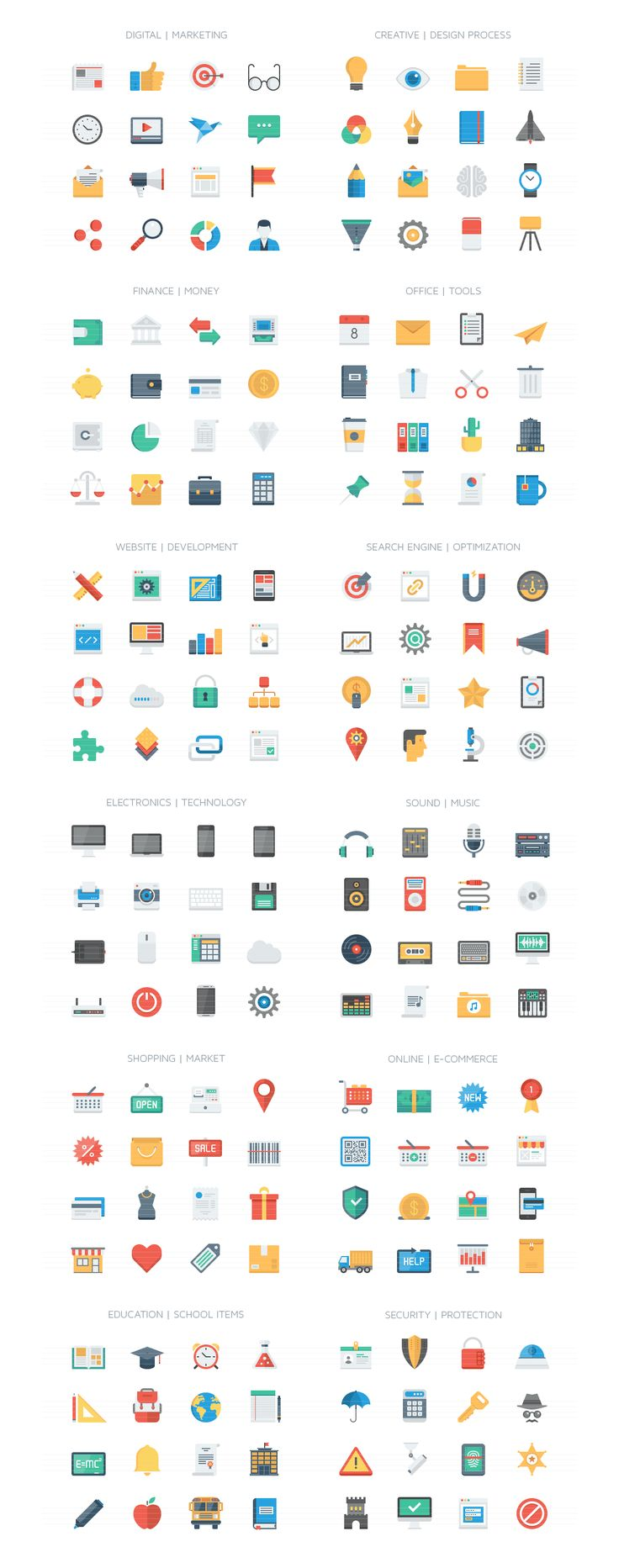 Simply Icons Collection by Bloomua on Creative Market