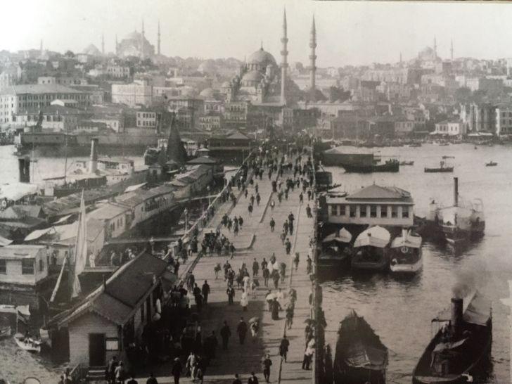 galata köprüsü eski istanbul