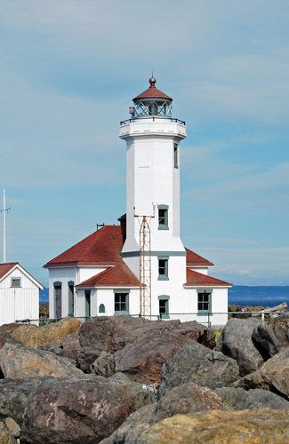 The Point Wilson #Lighthouse in Port Townsend, #Washington      http://dennisharper.lnf.com/