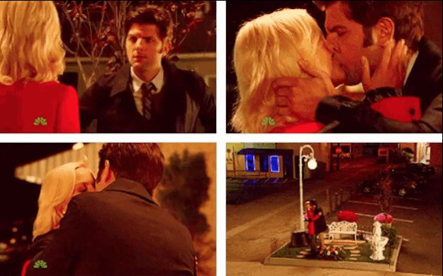 """This kiss!  <3 it!!  25 Heartwarming Ben And Leslie Moments From """"Parks & Recreation"""""""