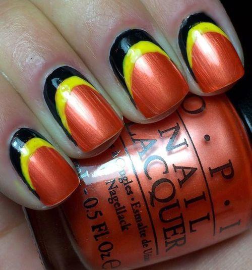 ∗ Nail Art ∼ Mes Web Folies (12 idées) : Belles aux couleurs Belges