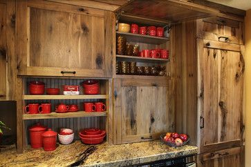Rustic Farmstead/Hickory/Reclaimed Patina - farmhouse - Kitchen - Minneapolis - Woodland Cabinetry