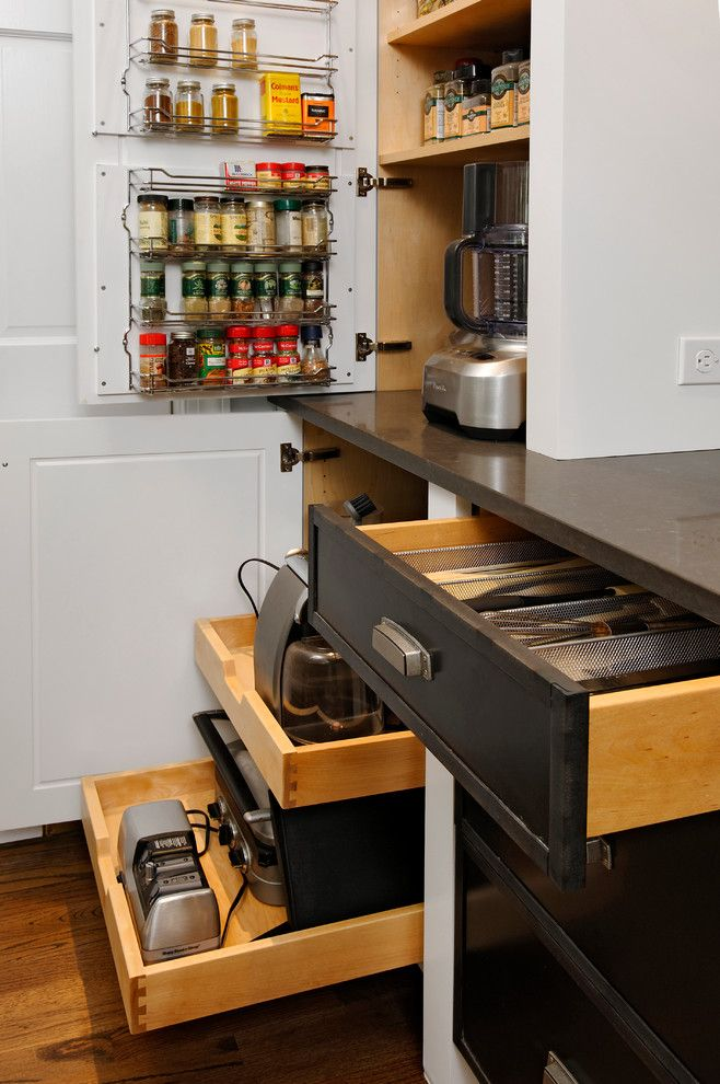 Pull-out shelves for large appliances