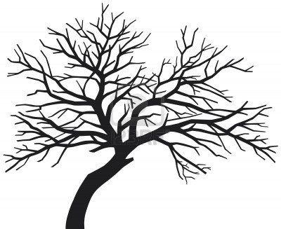 zwarte boom (boom silhouet, enge kale zwarte boom silhouet, boom zonder bladeren) Stockfoto - 15575594