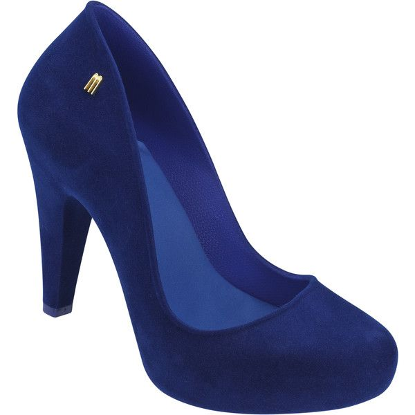 Melissa Incense Blue Flock ($93) ❤ liked on Polyvore featuring shoes, pumps, heels, blue flat shoes, blue heel pumps, blue flats, melissa flats and cushioned flats