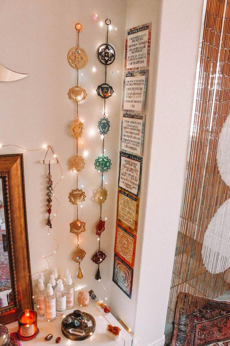 Chakra Magic Wall Hanging Decor Meditation Room Decor Meditation Room Design Meditation Corner