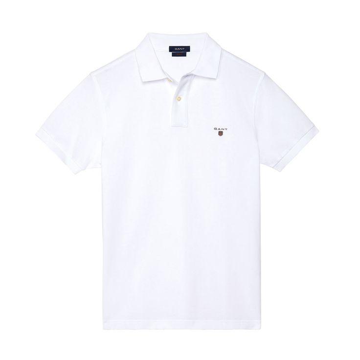 Gant Polo GANT SOLID White T-Shirt - 1 #GantPolo